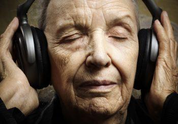 Senior in Headphones