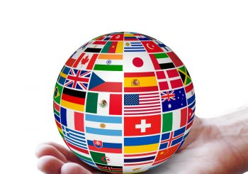 Globe of all nations in hand