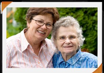 Senior and caregiver