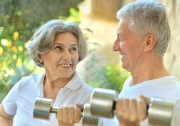 Senior Couple with Weights